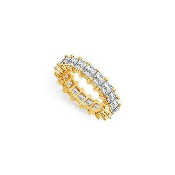Diamond Eternity Band : 14K Yellow Gold - 4.00 CT Diamonds
