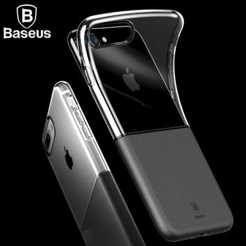 Baseus Phone Case For iPhone 7 Plus 4.7/5.5 inch Double Material Double Style Soft TPU Hard PC Durable Protective Shell