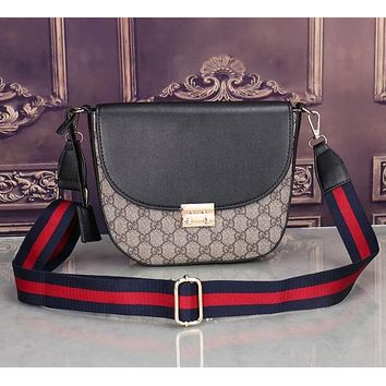 Perfect Gucci Women Shopping Leather Satchel Shoulder Bag Handbag Crossbody