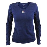 Kansas Jayhawks Ladies Antigua Relax Long Sleeve Tee