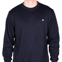 Cotton Boll Embroidered Crewneck Sweatshirt  in Navy by Cotton Brothers - FINAL SALE