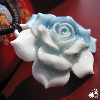 Handcrafts Pottery Floral Double Color Jewelry [6586057351]
