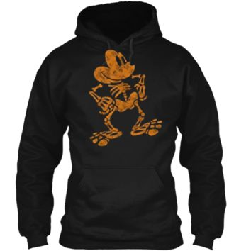 Disney Mickey Mouse Halloween Skeleton Pullover Hoodie 8 oz