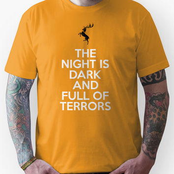 House Baratheon The Night Is Dark And Full Of Terrors Unisex T-Shirt