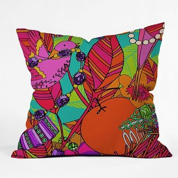 Aimee St Hill Gems And Birds Throw Pillow