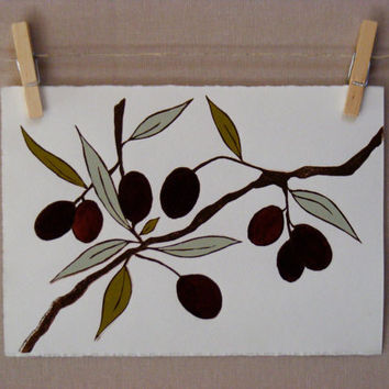 Olives  PRINT  Handmade by WoodenSpoonEditions on Etsy