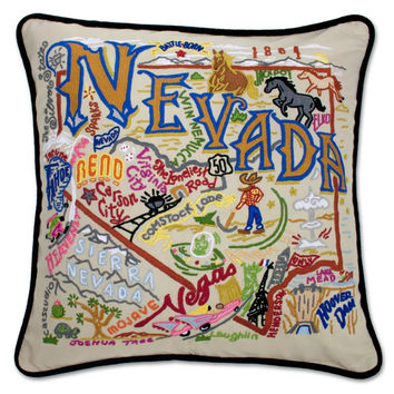 Nevada Hand Embroidered Pillow