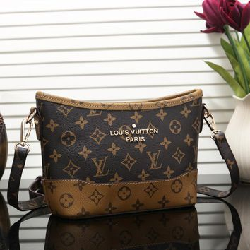 LV Louis Vuitton Fashion New Monogram Brown Check Leather Shoulder Bag Crossbody Bag Women