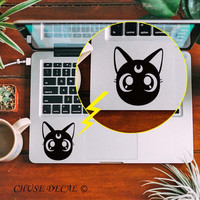"Sailor Moon Luna Cat Cartoon Touchpad Decal Laptop Trackpad Sticker for 11"" 12"" 13"" 15"" Macbook Air Pro Retina Mi Notebook Skin"