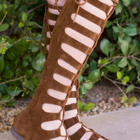 Stitches Gladiator Sandals