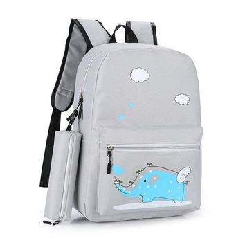 Two-piece Casual Animal Printing Backpack