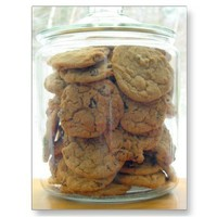 Chocolate Chip Cookie Jar Postcard from Zazzle.com