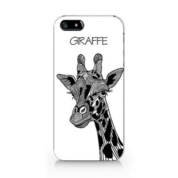 Giraffe phone case, Giraffe black and white iPhone 5 5S case, iPhone 4 4S case, Free shipping N-468