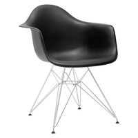 Padget Arm Chair in Black