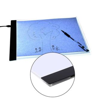 A4 Painting Drawing Board Magnetic LED Drawing Board Art Stencil Board Stencil Touch Board Copy Table Blank Canvas For Painting