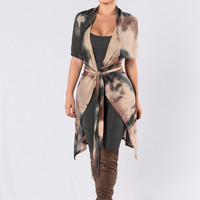 Hooked On A Feeling Duster - Black/Multi