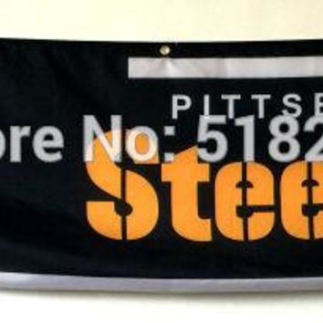 Pittsburgh Steelers Banner 2x8FT 60x240CM NFL Flag