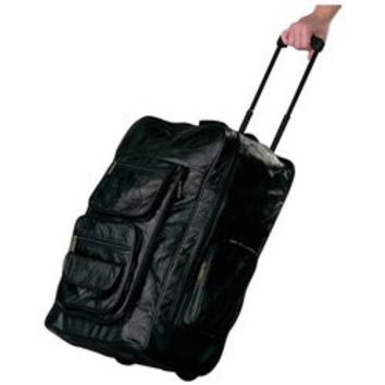 """Embassy™ Italian Stone™ Design Genuine Leather Super-Deluxe 23"""" Trolley/Backpack"""