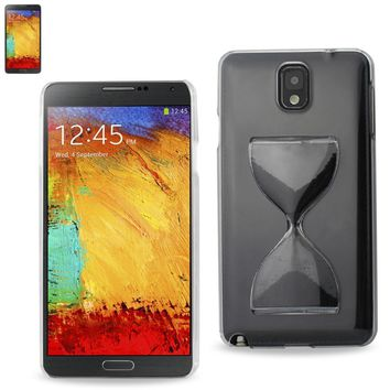 REIKO SAMSUNG GALAXY NOTE 3 3D SAND CLOCK CLEAR CASE IN BLACK