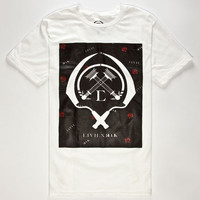 Civil X Rook Bonded Logo Mens T-Shirt White  In Sizes