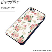 floral flower vintage fashion iPhone case iPhone 4 iPhone 4 cover iPhone