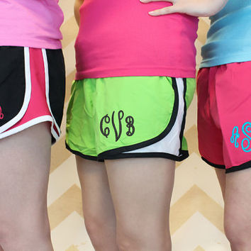 Monogram exercise running shorts  - Women & Girls Sizes