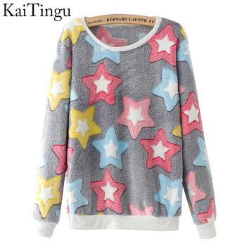 KaiTingu 2016 Brand Fashion Autumn Long Sleeve Sport Suit Tracksuit Women Hoody Harajuku Kawaii Emoji Cute Pullover Sweatshirt
