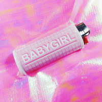 Grid Babygirl Bic Lighter Case