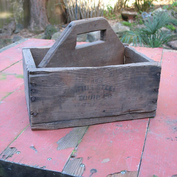 Vintage Hand Made Garden Tote / Tool Box