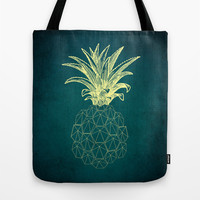 y-hello pineapple Tote Bag by AmDuf