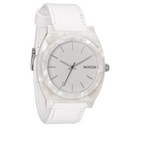 Nixon Time Teller Acetate Leather White Granite Watch A328-1029