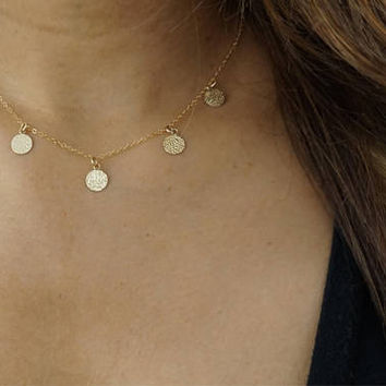 Mermaid Coin 14k Gold Filled Necklace by, Au Courant x Sam Ozkural Jewelry