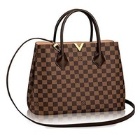LV Authentic Louis Vuitton Damier Kensington Shoulder Handbag Article: N41435 Made in France