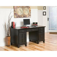 Home Styles Furniture 5181-18 Arts and Crafts Ebony Pedestal Desk