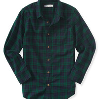 PS from Aero  Kids' Long Sleeve Plaid Woven Shirt