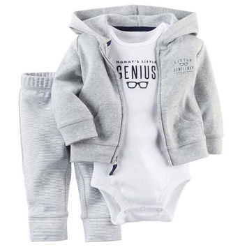 summer spring bebe baby girl ,kids baby boy clothes coat+bodysuit+pant 3 pcs infant boy clothing set,roupas bebes meninos