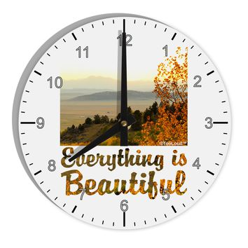 "Everything is Beautiful - Sunrise 8"" Round Wall Clock with Numbers by TooLoud"