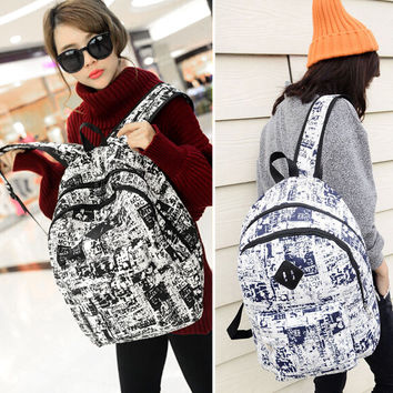 Women Vintage Canvas Backpack Satchel Rucksack Girls Travel Shoulder School Bag