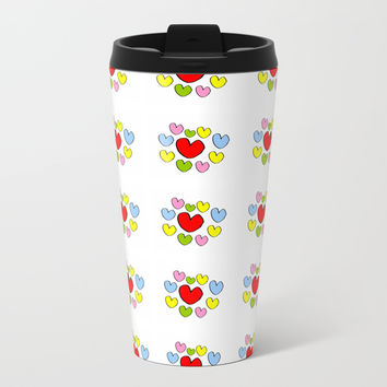 heart 3-heart,love,romantism,girl,sweet, women,romantic,cute,beauty,multicolor Metal Travel Mug by oldking