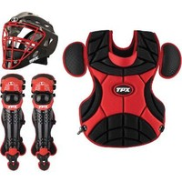 Louisville Pulse Static Black/Red Adult Catcher's Set | Softball.com