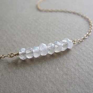 Moonstone Necklace, gentle moonstone necklace, simple delicate minimalist jewelry, dainty jewelry, bridal jewelry
