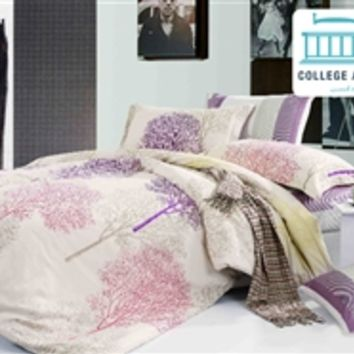 Enchant Twin XL Comforter Set - College Ave Designer Series College Dorm Bedding Best Items For College Girls