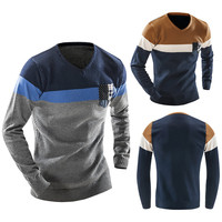 Color Block Knitted Pullover Sweater