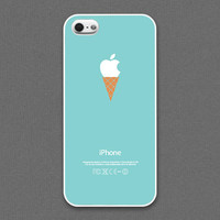 iPhone 4 / 4s /5 / 5s Case - ice cream cone on Mint, iPhone Case, iPhone5 Case, Cases for iPhone5, iPhone5s Case, Cases for iPhone5s