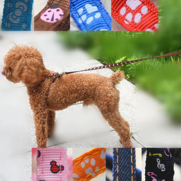 Hot Sale Pet Supplies Brand Nylon Print Cartoon 8 Designs Dog Leashes For Small Animals Puppy Pitbull Yorkshire Supplies PT