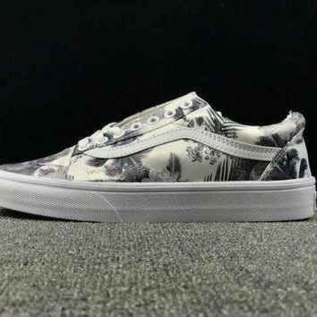 DCCKBWS Summer Newest Vans Floral Pattern Old Skool Sneaker Casual Shoes