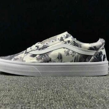 NOV9O2 Summer Newest Vans Floral Pattern Old Skool Sneaker Casual Shoes