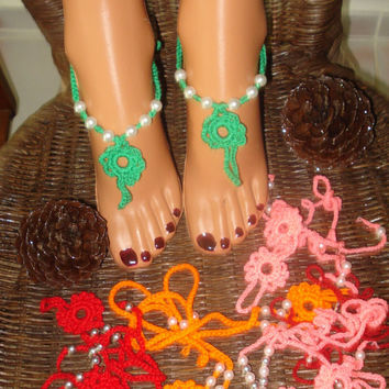 Baby Barefoot Sandals , Barefoot Sandals For Babies , Crochet Barefoot Sandals , Beaded Barefoot Sandals , Foot Jewelry , Barefoot Sandals