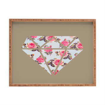 Allyson Johnson Floral Diamond Rectangular Tray