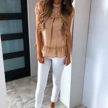 Beautiful Soul Blouse: Mocha